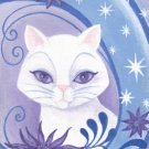 Star Bright ACEO Canvas Giclee Cat Print By Tj Sahadja10