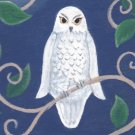Night Owl ACEO Satin Giclee Print Fantasy By Tj Sahadja10