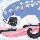 Pam-purrred ACEO Canvas Giclee Print Fantasy Cat By Tj
