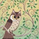 Forest Home ACEO Owl Canvas Giclee Print Fantasy By Tj Sahadja10