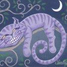 Cheshire Cat Print Chessy Fantasy by Sahadja10 Tj