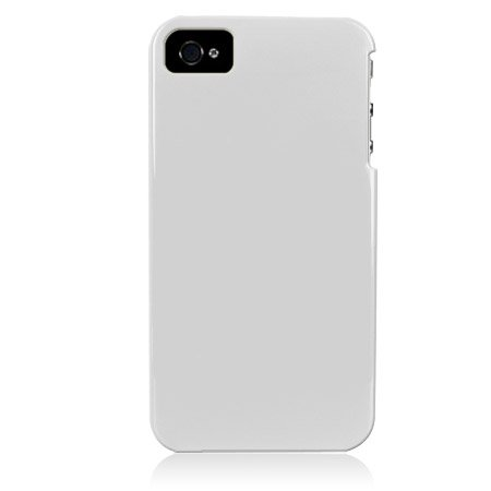 Hard Plastic Glossy Back Cover Case for Apple iPhone 4/4S - White