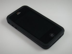 Soft Silicone Rubber Skin Cover Case fpr Apple iPhone 4/4S - Black