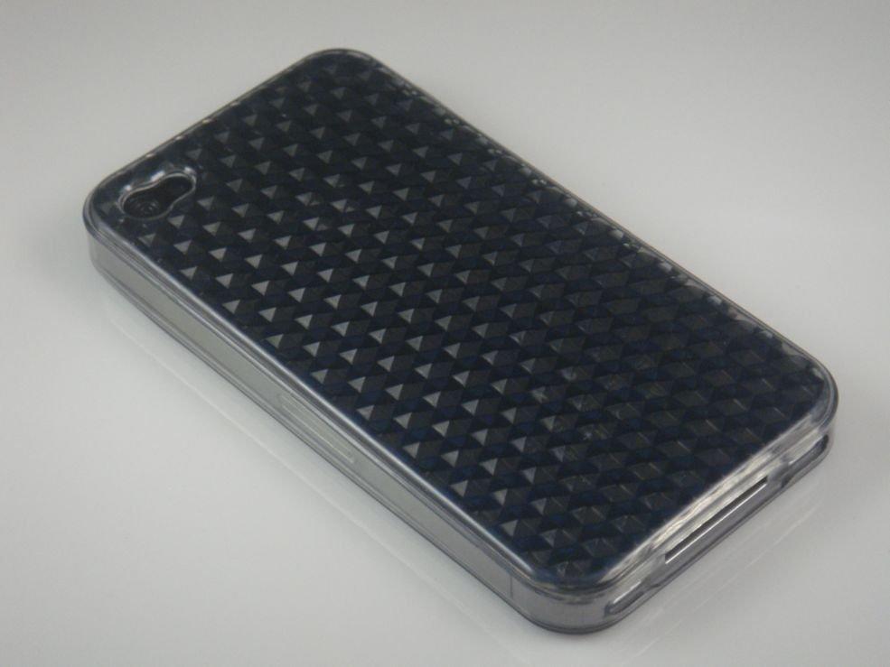 Crystal Gel Diamond Design Case for Apple iPhone 4/4S - Smoke