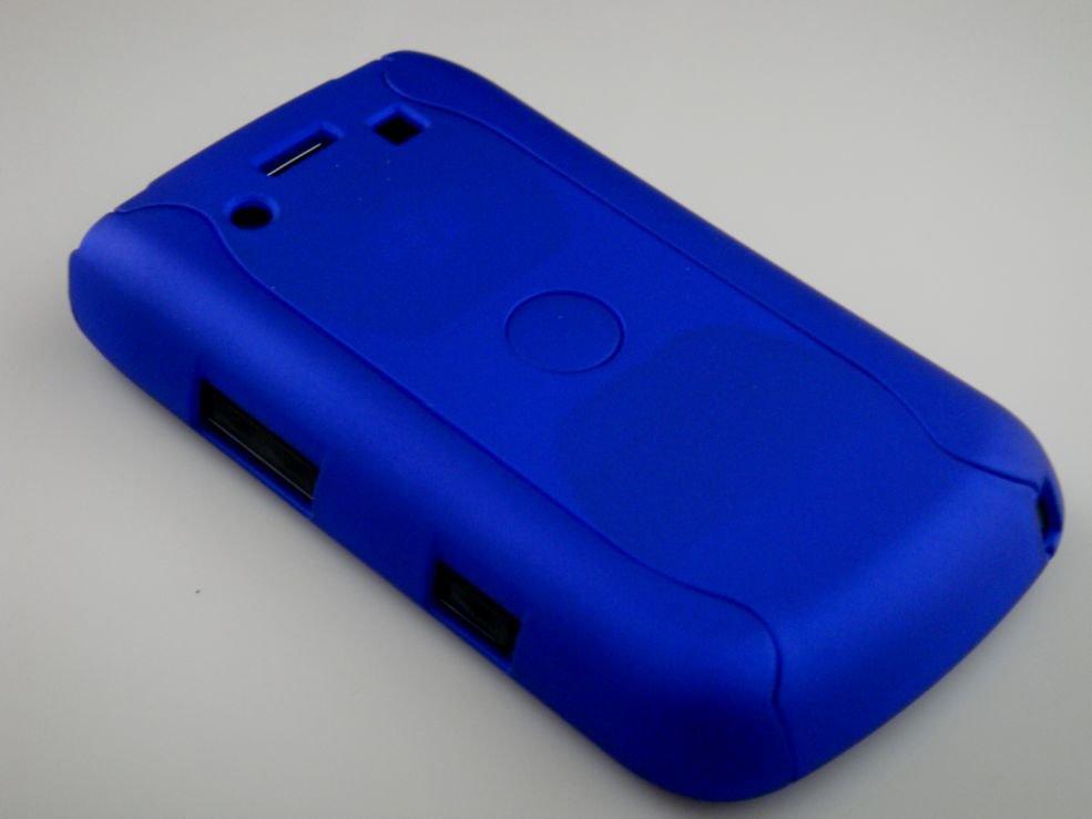 Hard Plastic Rubber Feel Armor Case for Blackberry Bold 9700/9780 - Blue