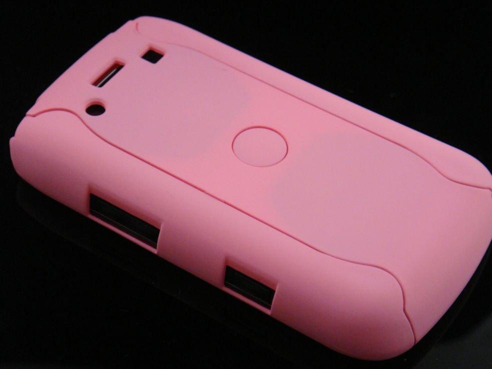 Hard Plastic Rubber Feel Armor Case for Blackberry Bold 9700/9780 - Pink