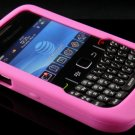 Soft Silicone Skin Cover Case for Blackberry Curve 8520 - Hot Pink