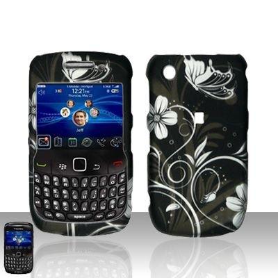 Hard Plastic Rubber Feel Design Case for Blackberry Curve 8520 - Midnight Garden