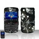 Hard Plastic Rubber Feel Design Case for Blackberry Curve 8520 - Midnight Garden