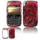 Hard Plastic Design Case for Blackberry Curve 8520 - Red Dragon