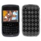 Crystal Gel Diamond Design Case for Blackberry Curve 8520 - Smoke