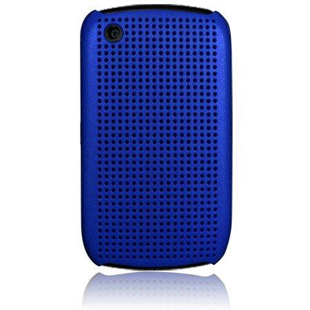 Hard Plastic Matrix Design Back Cover Case for Blackberry Curve 8520 - Blue