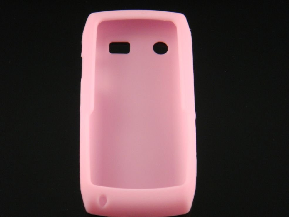 Soft Silicone Skin Cover Case for Blackberry Pearl 9100 - Pink
