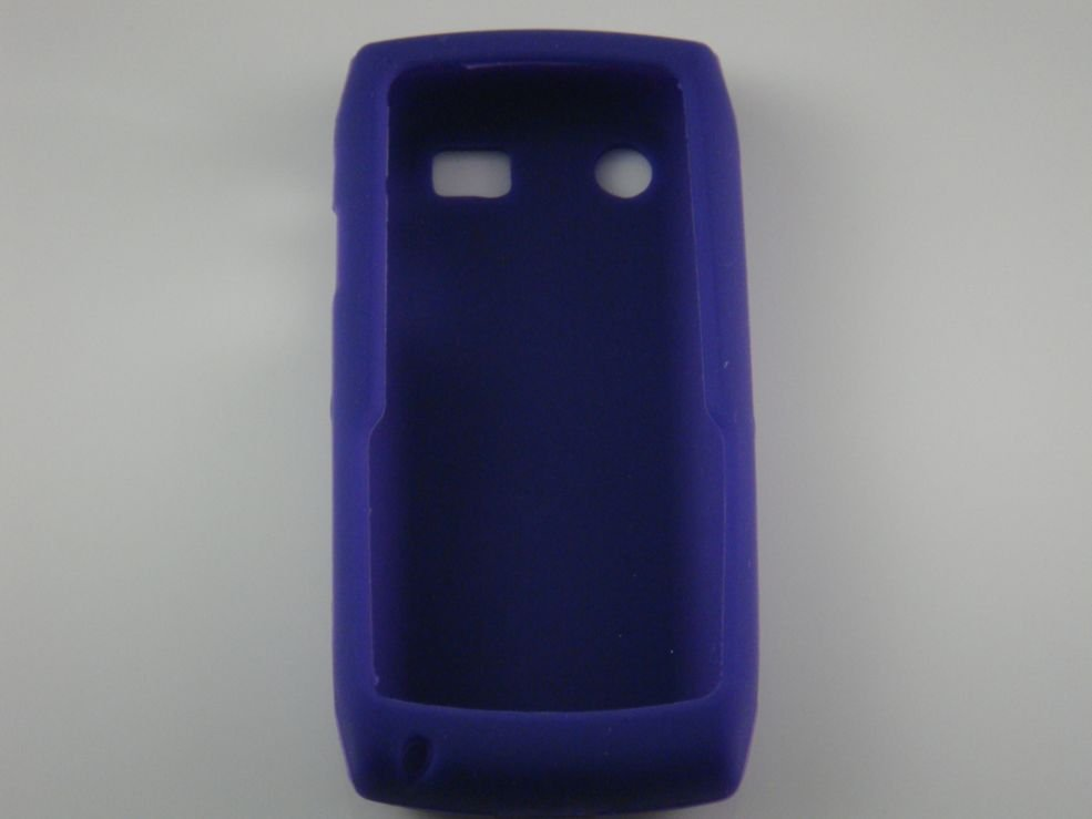 Soft Silicone Skin Cover Case for Blackberry Pearl 9100 - Purple