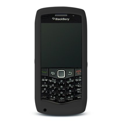 Soft Silicone Skin Cover Case for Blackberry Pearl 9100 - Black