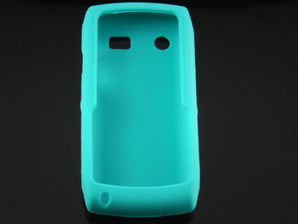 Soft Silicone Skin Cover Case for Blackberry Pearl 9100 - Turquoise