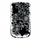 Hard Plastic Design Case for Blackberry Tour 9600/9630 - Black Skulls