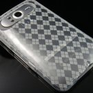Crystal Gel Check Design Skin Case for HTC HD7/HD7S - Clear