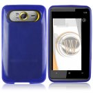 Soft Crystal Gel Frost Skin Cover Case for HTC HD7/HD7S - Blue