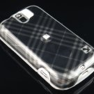 Hard Plastic Design Case for HTC Mytouch Slide 3G (T-Mobile) - Smoke Diagonal Check