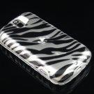 Hard Plastic Design Case for HTC Mytouch Slide 3G (T-Mobile) - Black and Silver Zebra