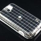 Hard Plastic Design Case for HTC Mytouch Slide 3G (T-Mobile) - Black Squares