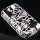 Hard Plastic Design Case for HTC Mytouch Slide 3G (T-Mobile) - Black Skulls