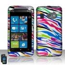 Hard Plastic Rubber Feel Design Case for HTC Surround - Rainbow Zebra