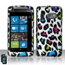 Hard Plastic Rubber Feel Design Case for HTC Surround - Rainbow Leopard