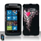 Hard Plastic Rubber Feel Design Case for HTC Surround - Royal Hearts