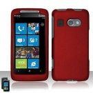 Hard Plastic Rubber Feel Cover Case for HTC Surround - Red