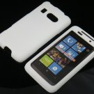 Hard Plastic Rubber Feel Cover Case for HTC Surround - White