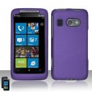 Hard Plastic Rubber Feel Cover Case for HTC Surround - Purple