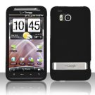 Hard Plastic Rubber Feel Cover Case for HTC Thunderbolt 4G (Verizon) - Black
