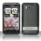 Hard Plastic Rubber Feel Design Case for HTC Thunderbolt 4G (Verizon) - Carbon Fiber