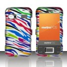 Hard Plastic Rubber Feel Design Case for Huawei M750 - Rainbow Zebra