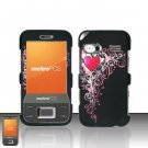 Hard Plastic Rubber Feel Design Case for Huawei M750 - Royal Hearts
