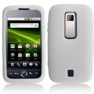 Textured Flexi Silicone Skin Cover Case for Huawei Ascend M860 - White