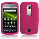 Textured Flexi Silicone Skin Cover Case for Huawei Ascend M860 - Hot Pink