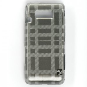Hard Plastic Design Case for LG Fathom VS750 - Grey Check