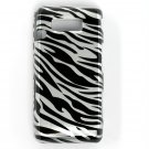 Hard Plastic Design Case for LG Fathom VS750 - Black and Silver Zebra