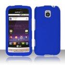Hard Plastic Rubber Feel Cover Case for LG Optimus M - Blue