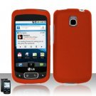 Hard Plastic Rubber Feel Case for LG Optimus T - Orange