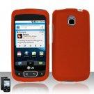 Hard Plastic Rubber Feel Case for LG Optimus T - Orange
