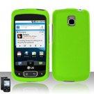 Hard Plastic Rubber Feel Case for LG Optimus T - Neon Green