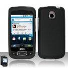 Hard Plastic Rubber Feel Case for LG Optimus T - Black