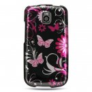 Hard Plastic Design Case for LG Optimus T - Pink Butterfly