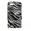 Hard Plastic Design Case for LG Sentio GS505 - Black and Silver Zebra