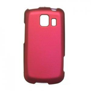 Hard Plastic Rubber Feel Case for LG Vortex VS660 - Hot Pink