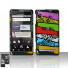Hard Plastic Rubber Feel Design Case for Motorola Droid 2 A955 - Abstract Art